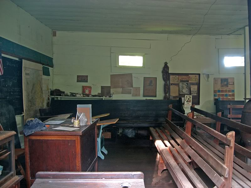 Ebbing and Flowing School exactly as it was left in 1956 when it closed