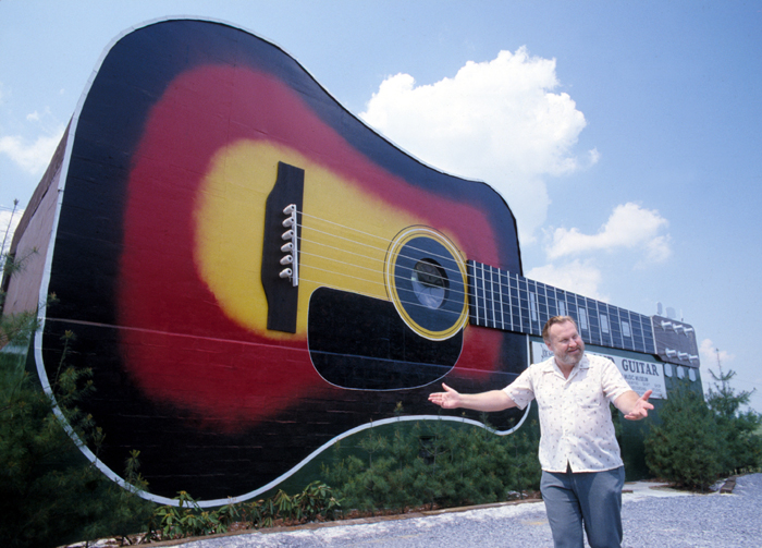 The Grand Guitar in Bristol – home of WOPI Radio, birthplace of country music and creation of Joe Morrel