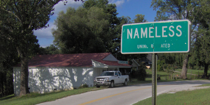 The most unoriginal town name in America, presenting Nameless, Tennessee