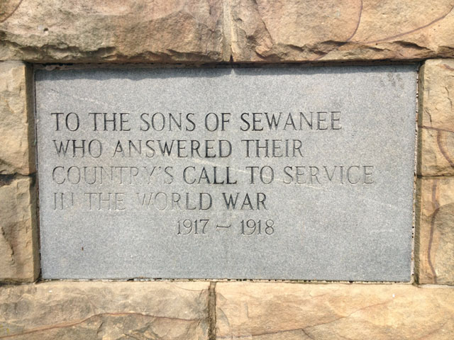 sewaneeMemorialCross_plaque_WWI