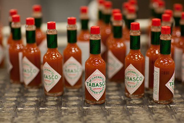 tabasco sauce bottles
