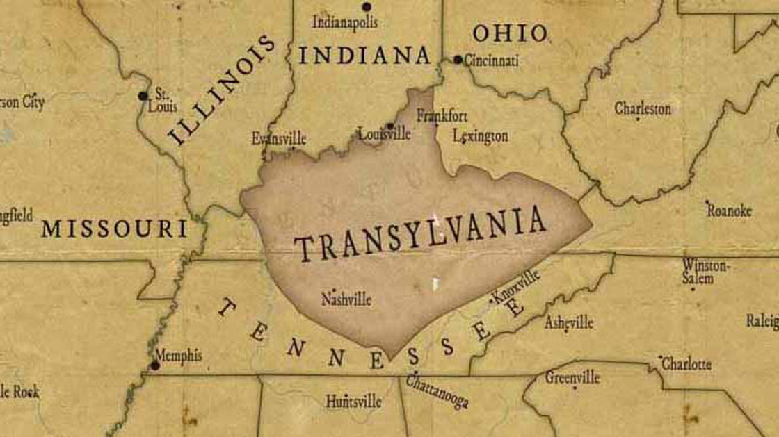 Parts of Nashville and Mid Tennessee were almost in the State of Transylvania