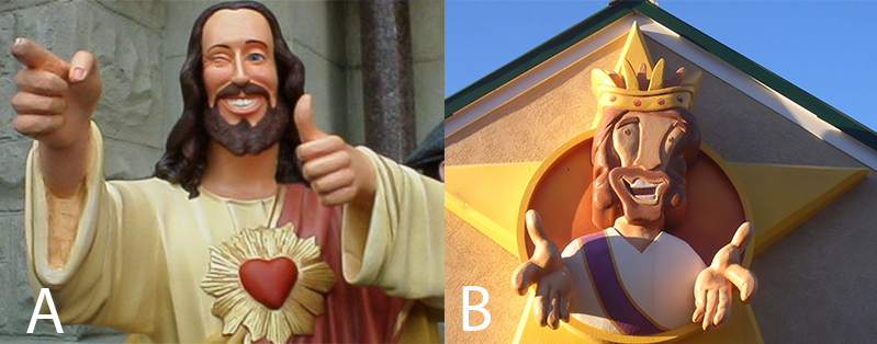Which one of these 3D Jesuses are actually at a church in Tennessee?