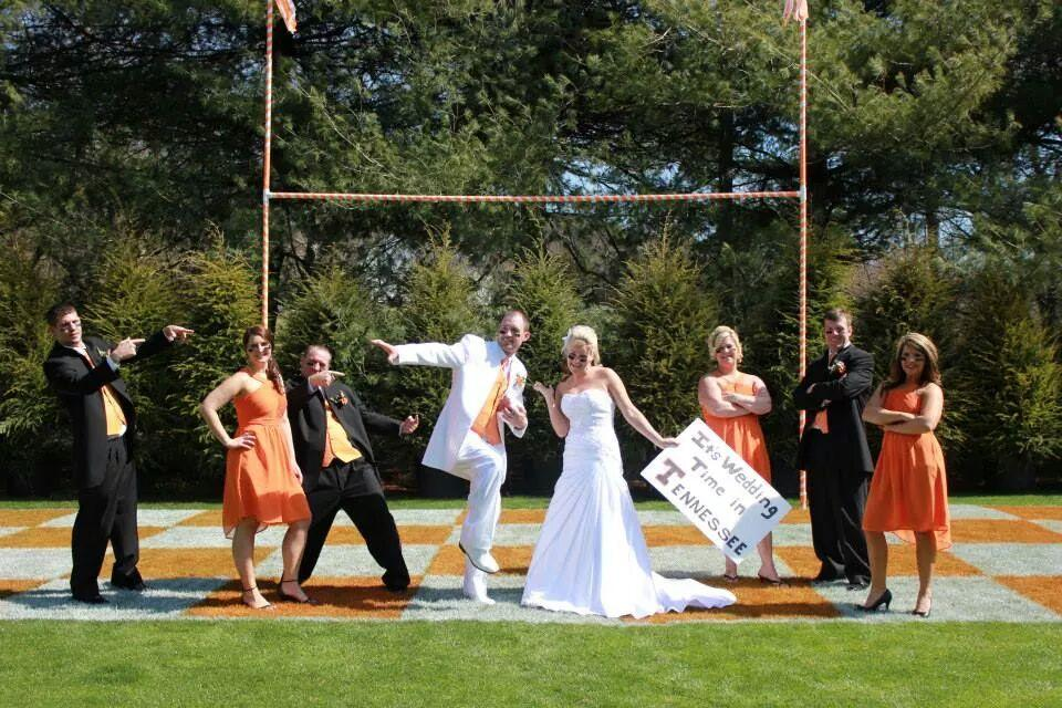 With football season upon us, one Tennessee fan proved he is a diehard Vol with his wedding